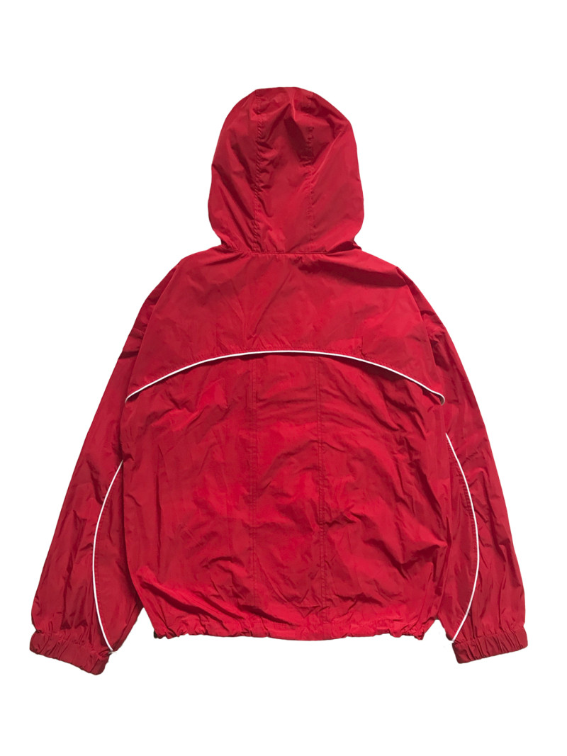 Nylon Pullover Hoodie Red Back