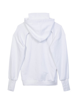 SHOOP I Love You Turtle Neck Hoodie white