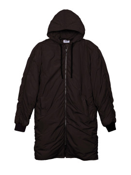 Unison nylon overcoat black