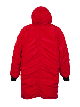 Unison nylon overcoat red