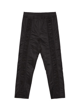 SHOOP Gathering Black Nylon Pants