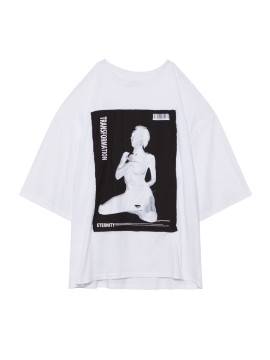 SHOOP Transformation Oversized T-shirt White