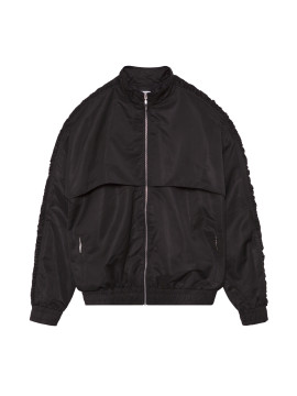SHOOP Gathering Black Nylon Jacket